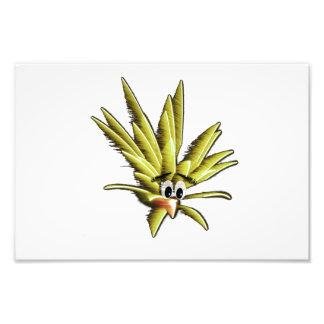 Dibujo animado preocupante amarillo del pájaro arte fotografico