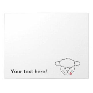 Dibujo animado principal de las ovejas blocs de papel