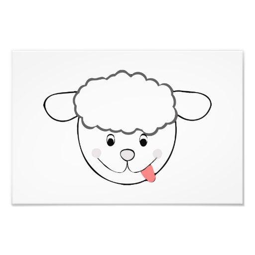 Dibujo animado principal de las ovejas fotografia