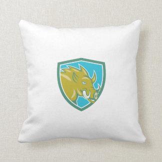 Dibujo animado principal del escudo de carga del almohada