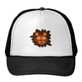 Dibujo animado principal del león gorras de camionero
