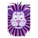 Dibujo animado principal del león  papeleria de diseño