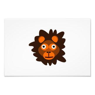 Dibujo animado principal del león impresiones fotograficas