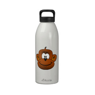 Dibujo animado principal del mono botellas de beber