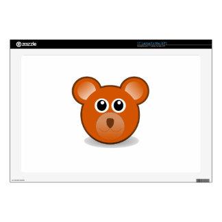 Dibujo animado principal del oso portátil calcomanía