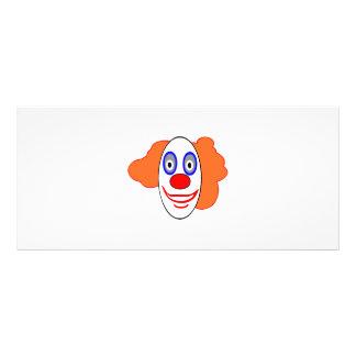 Dibujo animado principal del payaso tarjetas publicitarias personalizadas