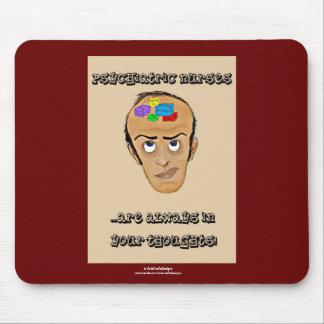 Dibujo animado psiquiátrico del Enfermera-Humor/bl Mouse Pad
