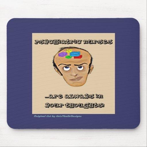Dibujo animado psiquiátrico del Enfermera-Humor Tapete De Raton