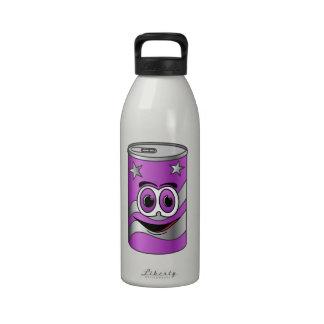 Dibujo animado púrpura de la poder de soda