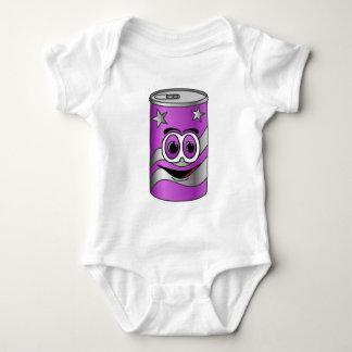 Dibujo animado púrpura de la poder de soda poleras