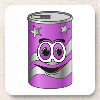 Dibujo animado púrpura de la poder de soda posavasos de bebidas