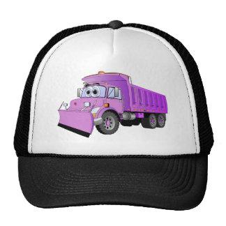 Dibujo animado púrpura del camión volquete gorro
