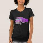Dibujo animado púrpura del camión volquete camisetas