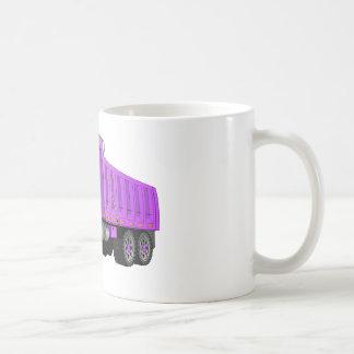 Dibujo animado púrpura del camión volquete tazas de café