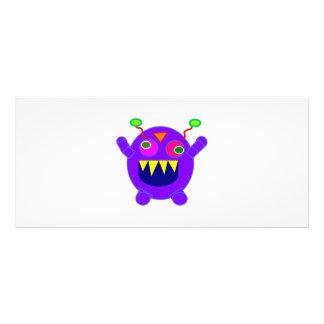 Dibujo animado púrpura del monstruo lona