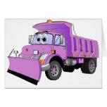 Dibujo animado púrpura del quitanieves tarjetas