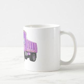 Dibujo animado púrpura del quitanieves tazas
