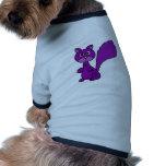 Dibujo animado púrpura divertido de la ardilla camisa de perro