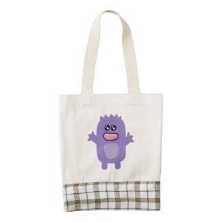 Dibujo animado púrpura lindo del monstruo