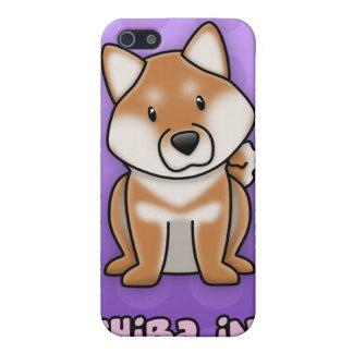 Dibujo animado púrpura Shiba Inu iPhone 5 Carcasa