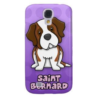 Dibujo animado púrpura St Bernard Funda Para Galaxy S4