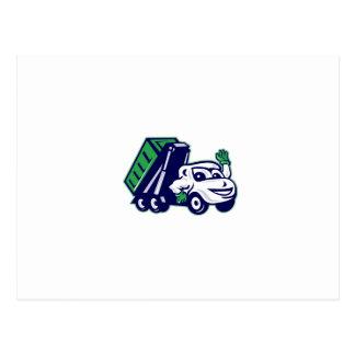 Dibujo animado que agita del camión del postales