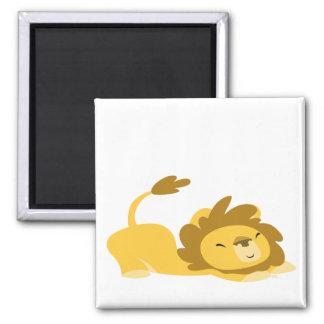 Dibujo animado que estira el imán del león