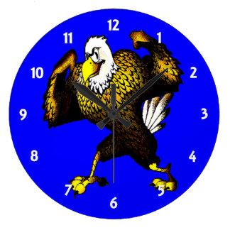 Dibujo animado que lucha Eagle Reloj De Pared