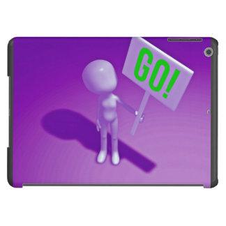 Dibujo animado que muestra el tablero de la funda para iPad air