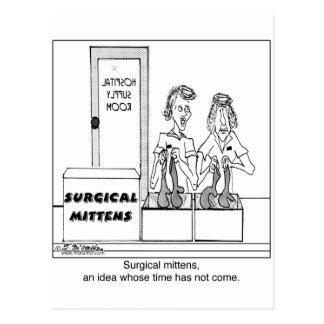 Dibujo animado quirúrgico del hospital de las postal