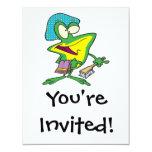 dibujo animado rechoncho de la rana del froggy del invitación 10,8 x 13,9 cm