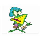 dibujo animado rechoncho de la rana del froggy del postal