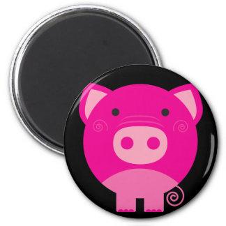 Dibujo animado redondo lindo del cerdo iman