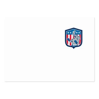 Dibujo animado republicano del escudo de la tarjetas de visita grandes