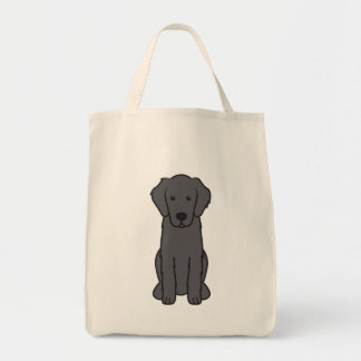 Dibujo animado revestido plano del perro del perro bolsa tela para la compra