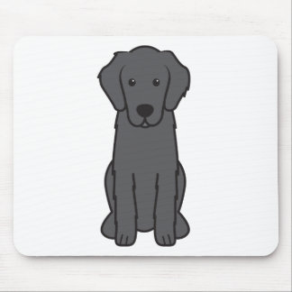Dibujo animado revestido plano del perro del perro tapete de raton