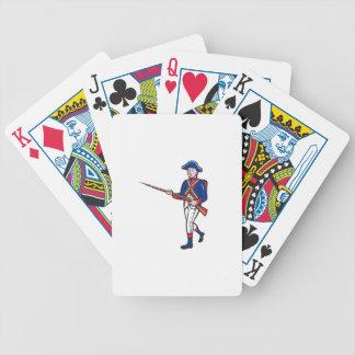 Dibujo animado revolucionario americano del barajas de cartas