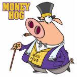 dibujo animado rico divertido del cerdo del cerdo  escultura fotográfica