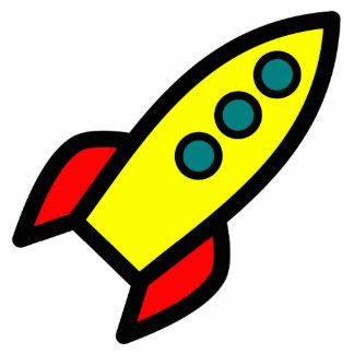 Dibujo animado Rocket Fotoescultura Vertical