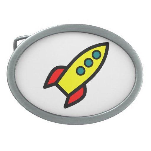 Dibujo animado Rocket Hebillas De Cinturón Ovales