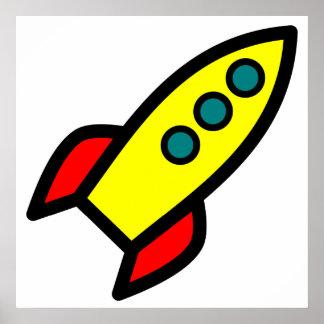 Dibujo animado Rocket Posters
