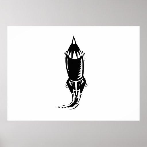 Dibujo animado Rocket Poster