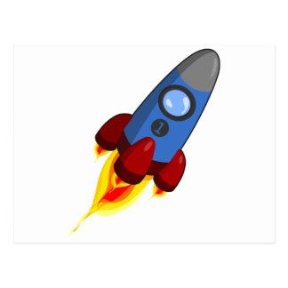 Dibujo animado Rocketship Postal