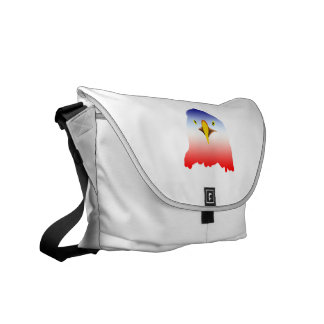 dibujo animado rojo blanco azul del águila bolsas de mensajería