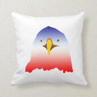dibujo animado rojo blanco azul del águila cojines
