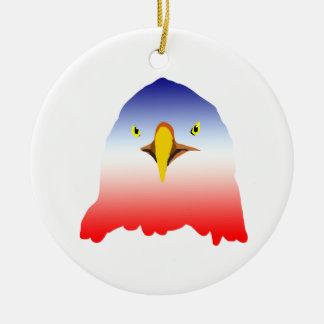 dibujo animado rojo blanco azul del águila adorno redondo de cerámica
