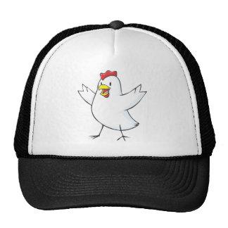 Dibujo animado rojo de la gallina gorros