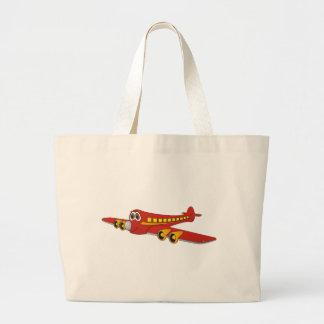 Dibujo animado rojo del avión de pasajeros O Bolsas De Mano