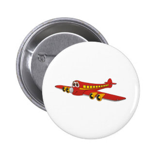 Dibujo animado rojo del avión de pasajeros O Pins