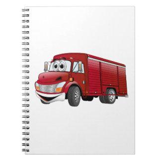 Dibujo animado rojo del camión de la bebida notebook